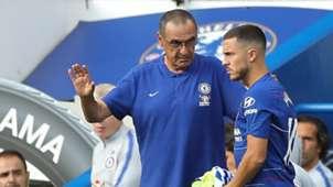 Sarri Hazard 2018 Chelsea