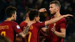 Roma celebrating against Benevento