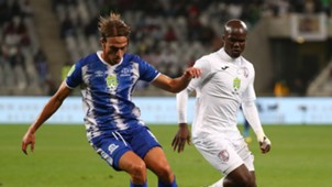 Maritzburg United Andrea Fileccia and Free State Stars Goodman Dlamini, May 2018