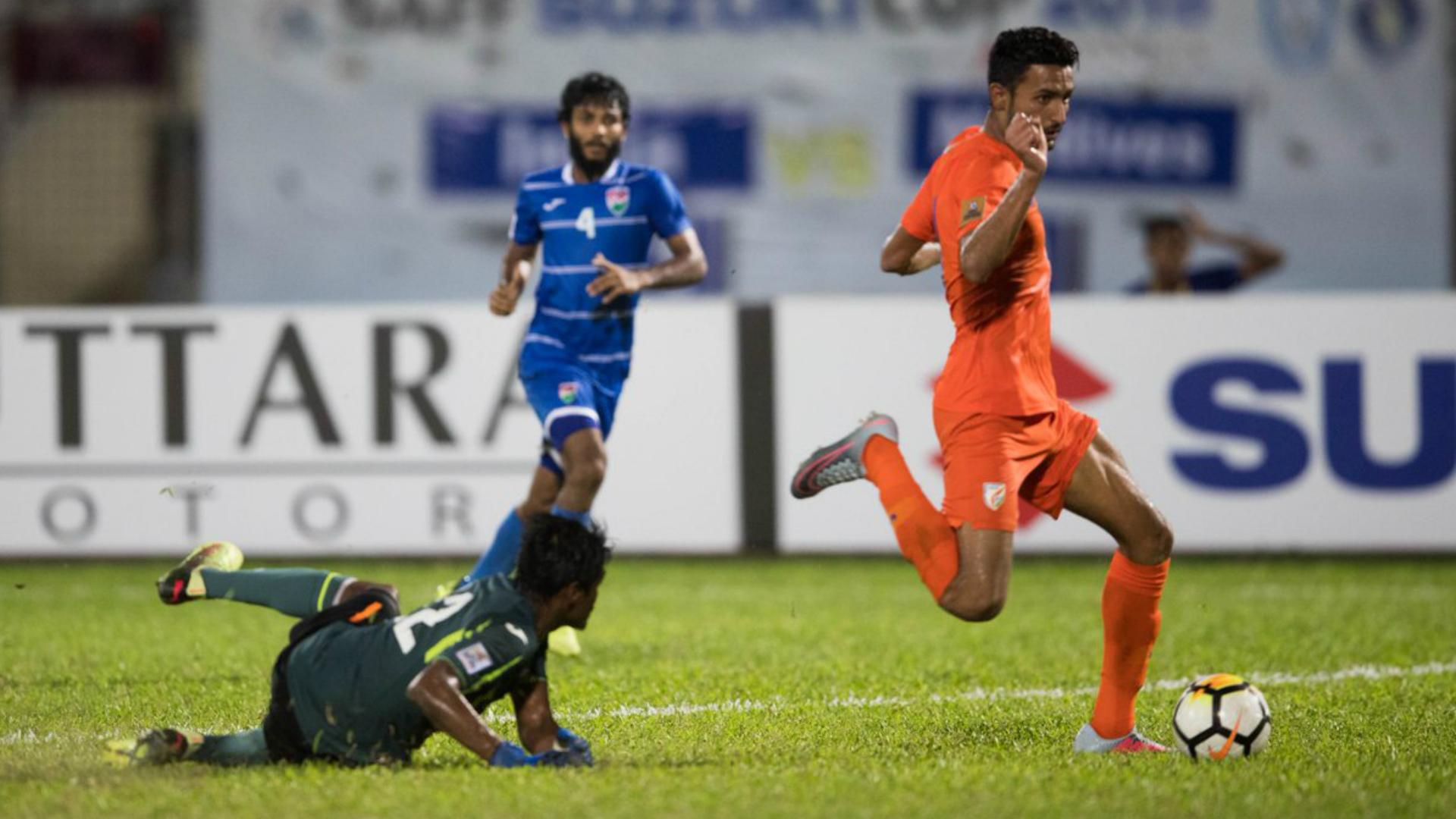 Manvir Singh India U-23 Maldives 2018 SAFF Cup
