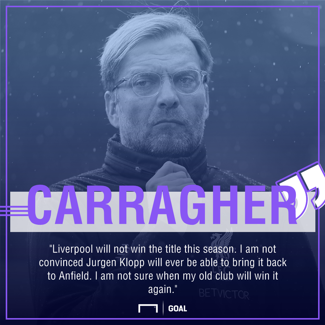 Jamie Carragher Liverpool Premier League title never