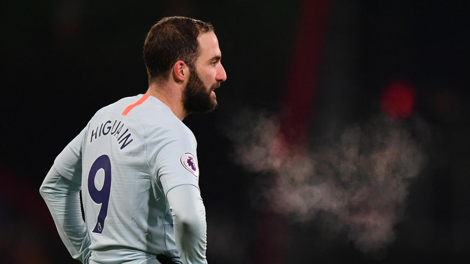 Gonzalo Higuain Chelsea Bournemouth