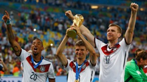 Jerome Boateng, Thomas Muller, Per Mertesacker Germany 2014 World Cup