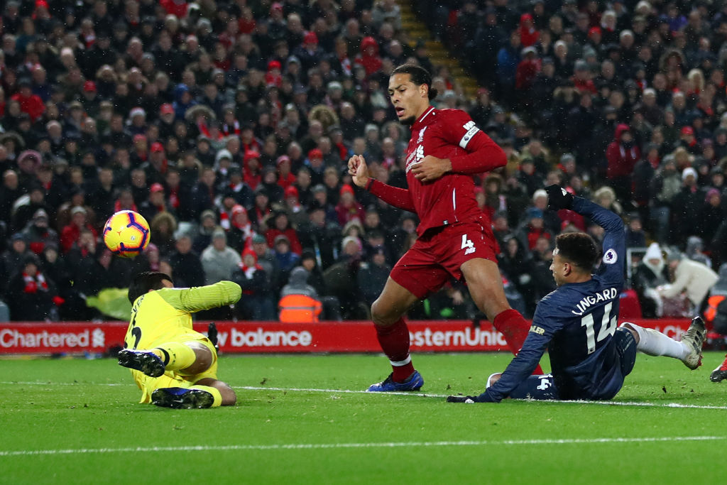 Liverpool Manchester United Jesse Lingard Alisson Becker EPL 161218