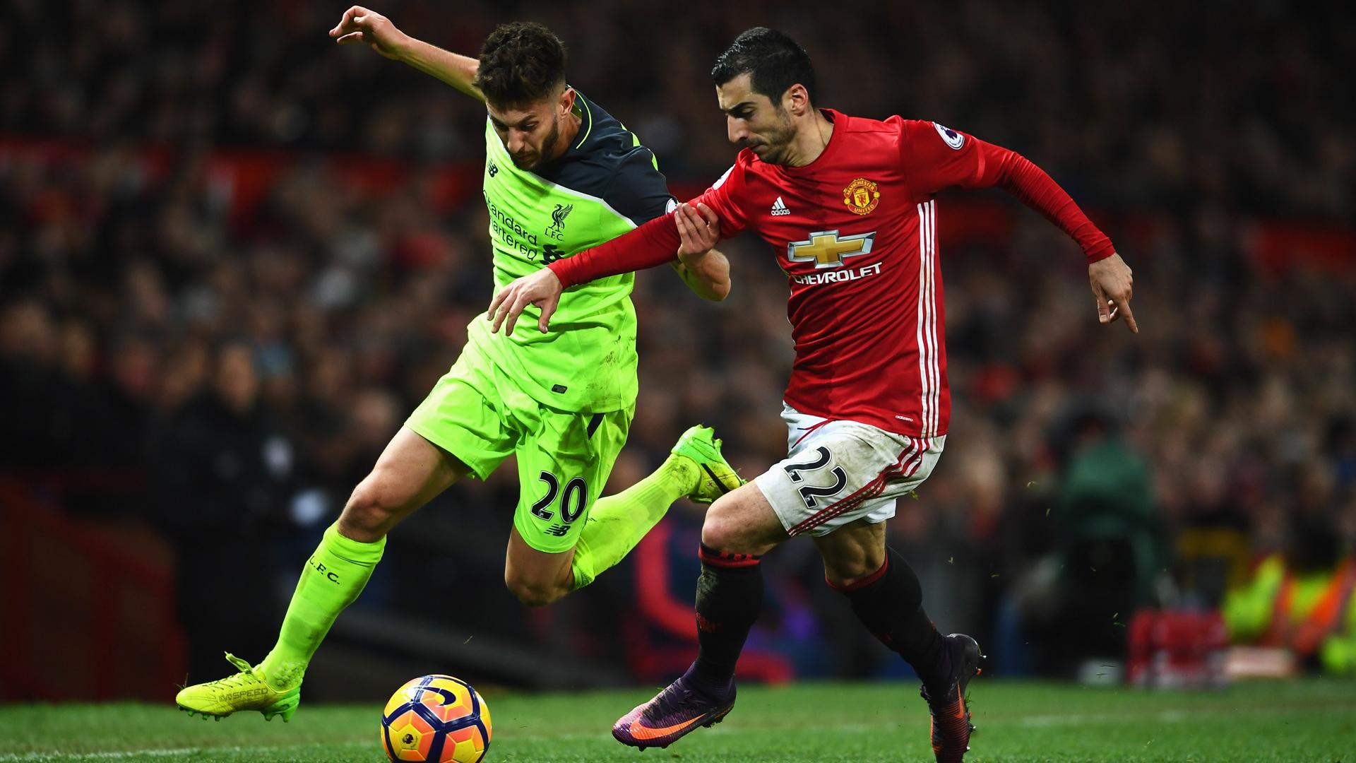 Mkhitaryan Lallana Liverpool Manchester United 01152015