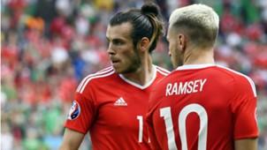 Gareth Bale Aaron Ramsey Wales Northern Ireland