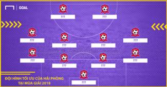 Đội hình tối ưu của CLB Hải Phòng tại V.League 2018