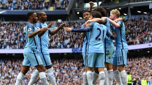 Manchester City Celebration Leicester 13052017