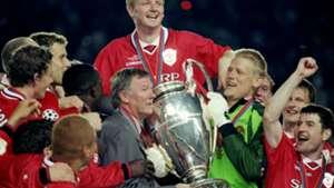 Alex Ferguson Peter Schmeichel Manchester United 1999