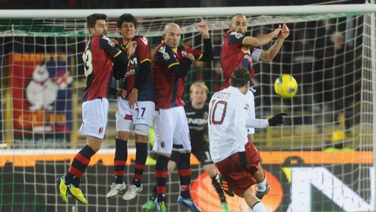 Francesco Totti Freekick Roma