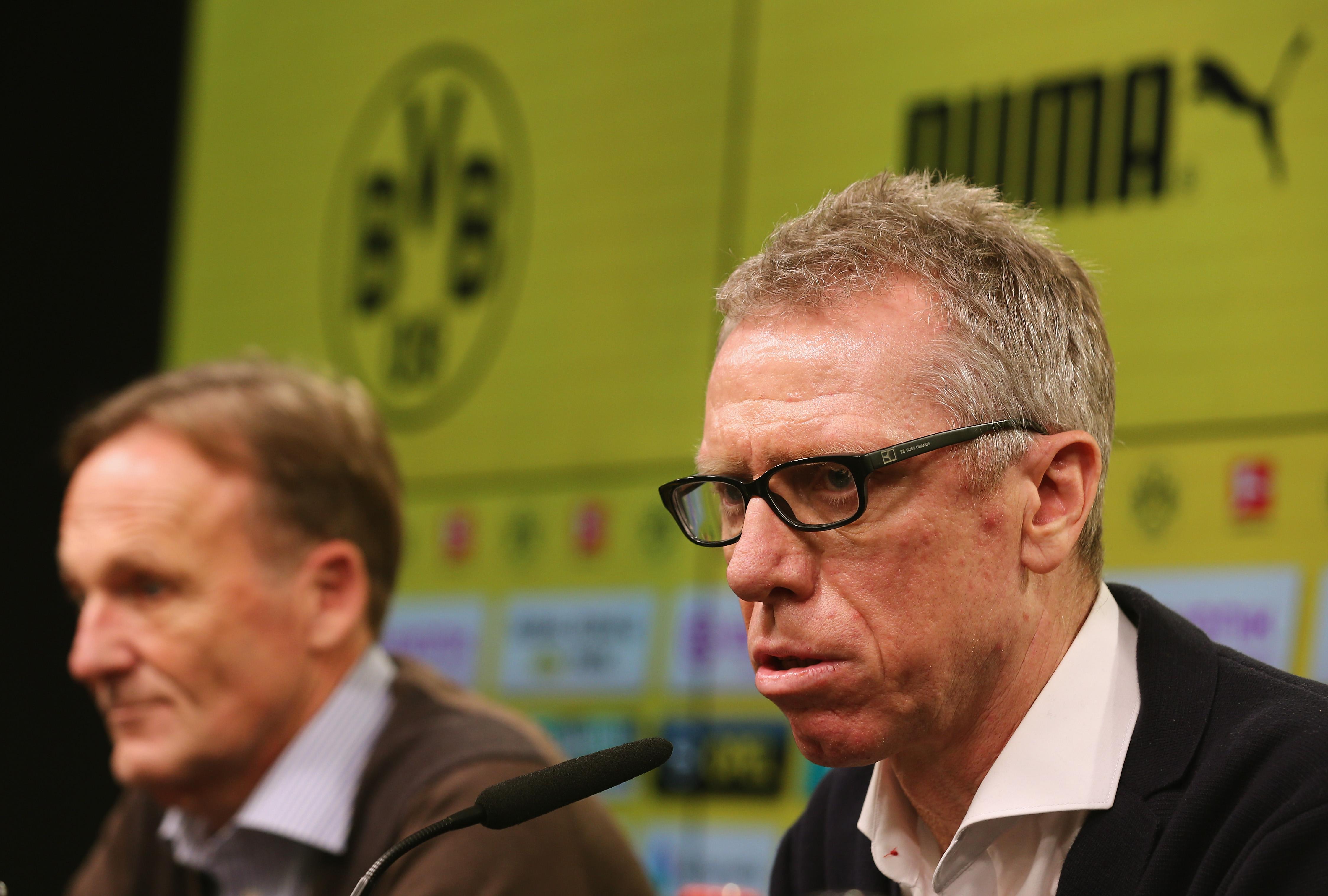 Hans Joachim-Watzke Peter Stöger Borussia Dortmund 12/10/17