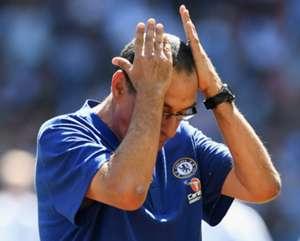 Maurizio Sarri Chelsea Manchester City Community Shield 2018