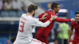 Gerard Pique Cristiano Ronaldo Spain Portugal