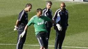 Mourinho and Dudek real madrid