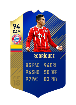 FIFA 18 Bundesliga Team of the Season James Rodriguez