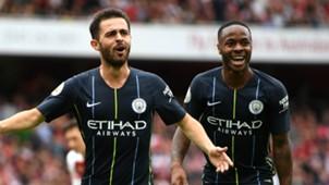 Bernardo Silva Raheem Sterling Manchester City 2018-19