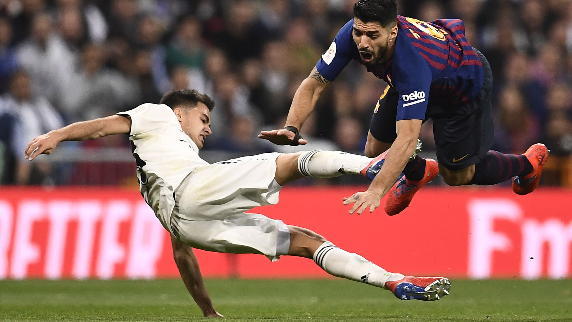 Sergio Reguilon Real Madrid Luis Suarez Barcelona