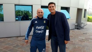 Jorge Sampaoli Javier Zanetti Argentina 13072017