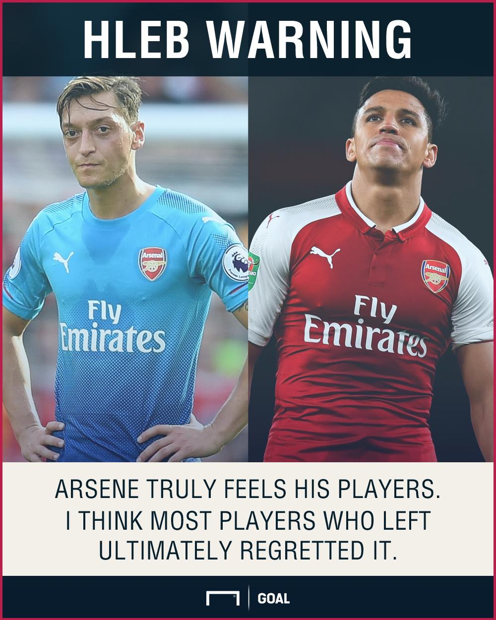 Alexander Hleb Everyone regrets leaving Arsenal