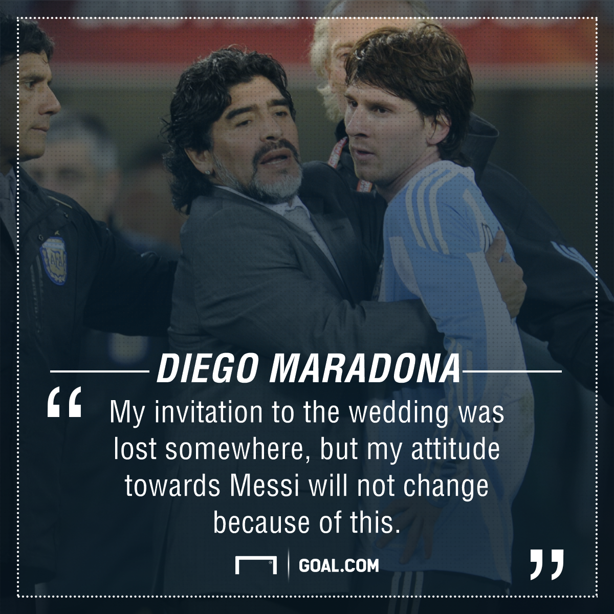 Diego Maradona Lionel Messi wedding