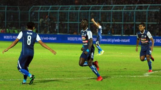 Selebrasi Makan Konate - Arema FC