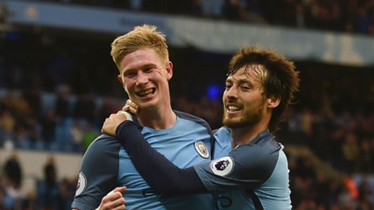 Kevin De Bruyne David Silva Manchester City Premier League 051617