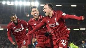 Shaqiri Firmino Wijnaldum Liverpool 16122018