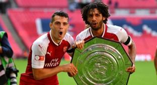 Gnanit Xhaka Mohamed Elneny Arsenal Chelsea Community Shield