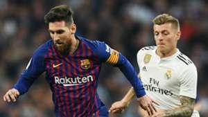Lionel Messi Barcelona Toni Kroos Real Madrid