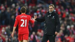 Lucas Leiva Jurgen Kloppp Liverpool Premier League