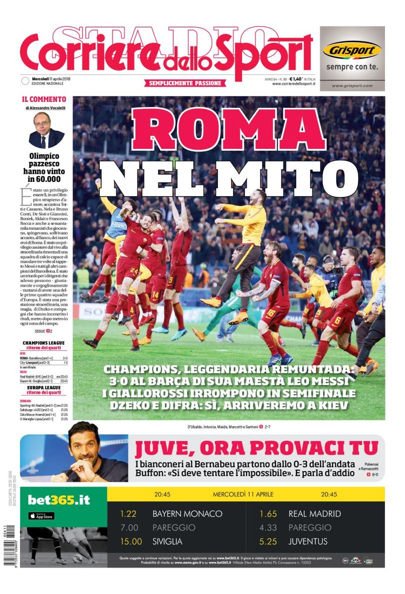 corrieredellosport front page 11/04