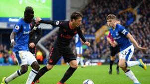 Mesut Ozil vs Everton