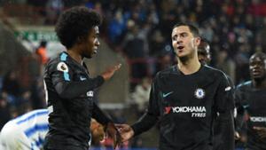 Chelsea vs Huddersfield Willian Hazard