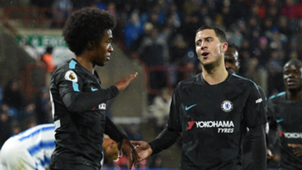 Chelsea vs Huddersfield Willian Hazard