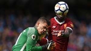 Sadio Mane Ederson Manchester City Liverpool