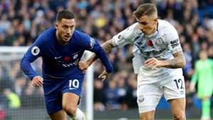 Eden Hazard Lucas Digne Chelsea vs Everton Premier League 2018-19