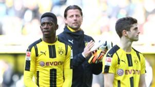 *GER ONLY* BVB Borussia Dortmund Ousmane Dembele Roman Weidenfeller