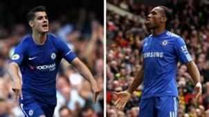 Alvaro Morata Didier Drogba Chelsea