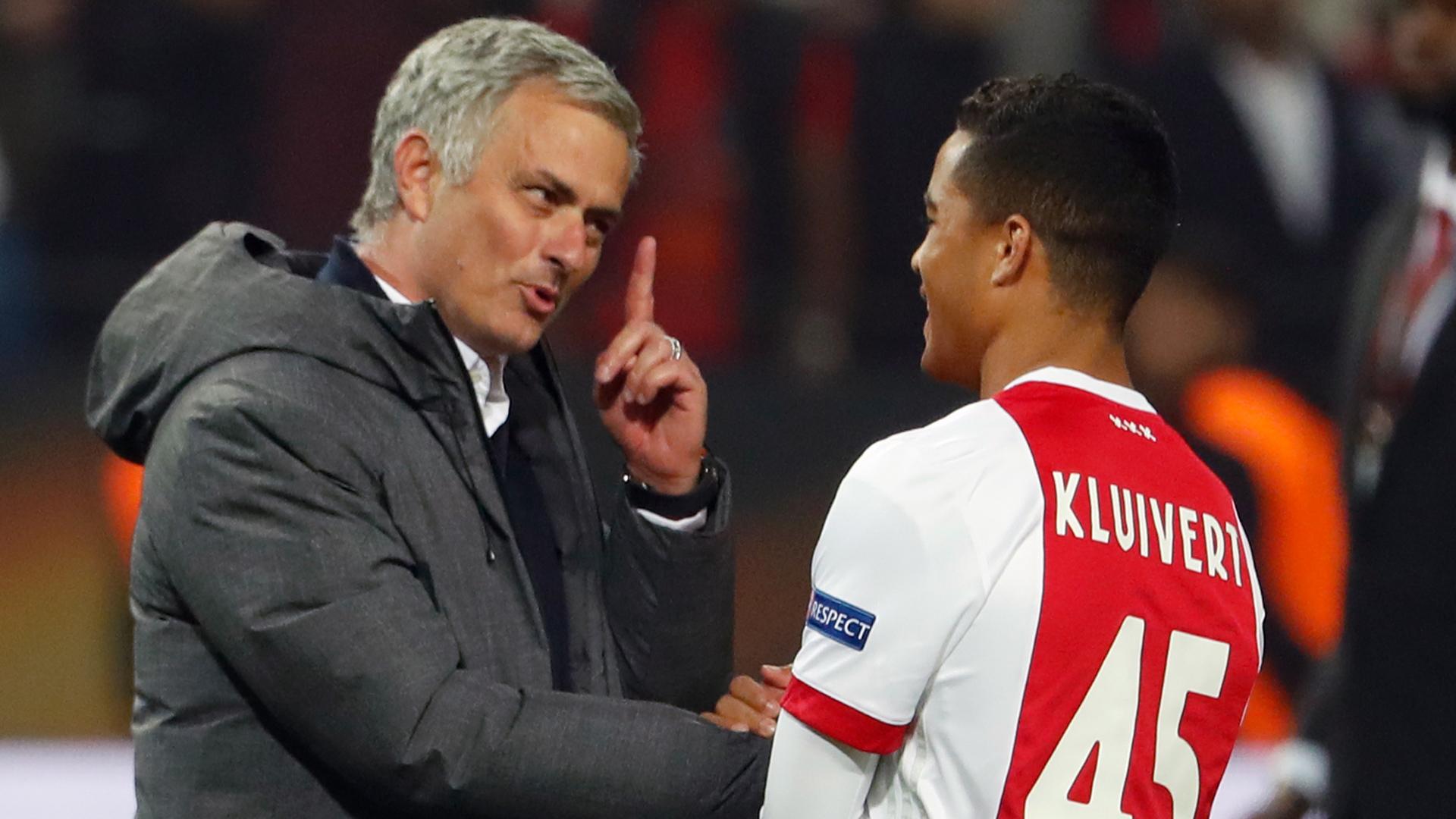 Jose Mourinho Justin Kluivert Manchester United Ajax Amsterdam 24052017