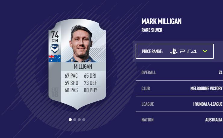 Mark Milligan FIFA 18