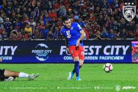 Gabriel Guerra Johor Darul Ta'zim Malaysia FA Cup 23042017