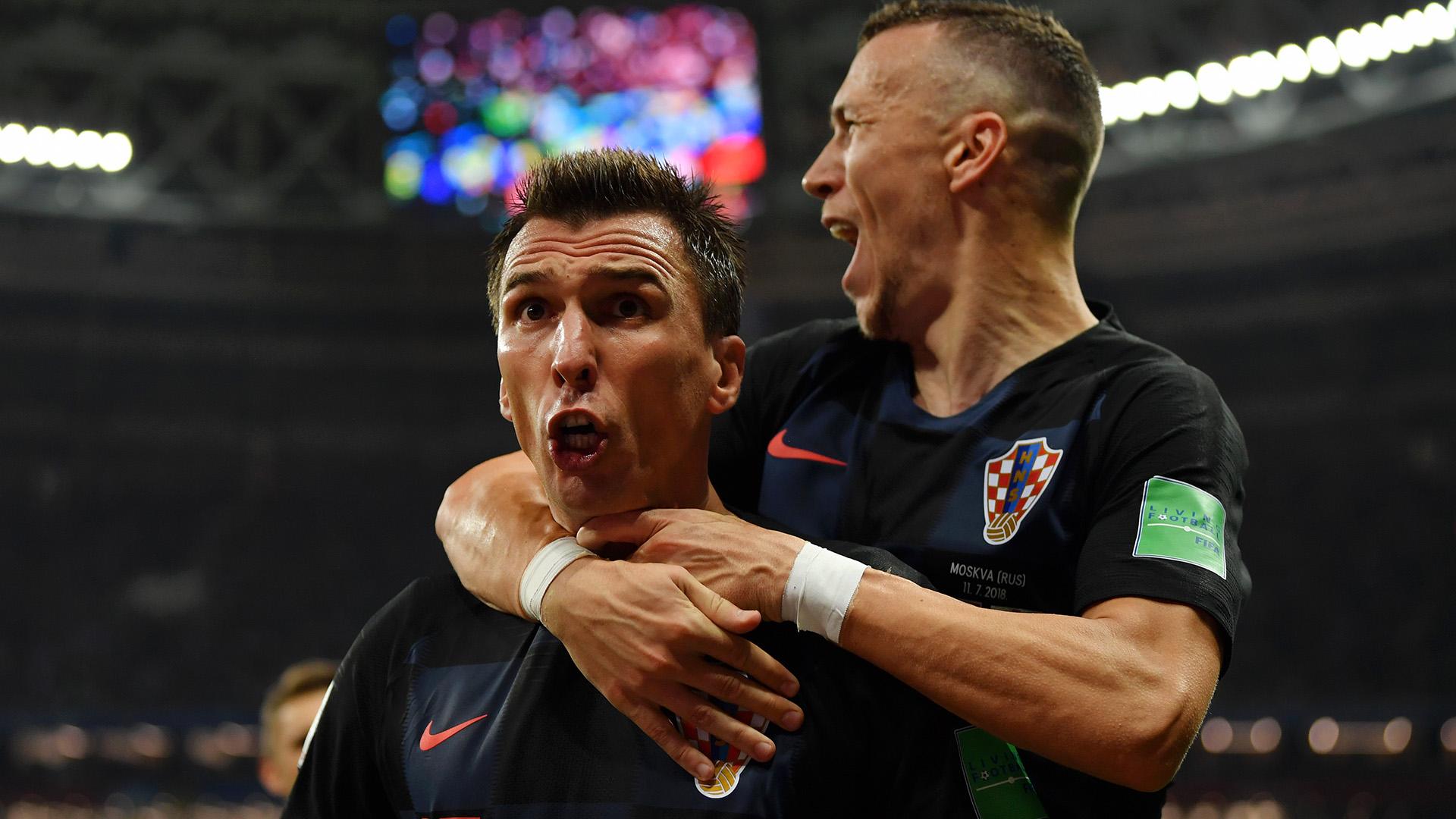 Mario Mandzukic Ivan Perisic Croatia England World Cup 11072018