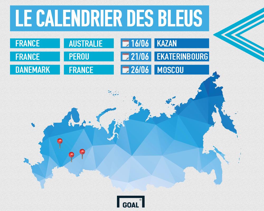 Tirage au sort CDM 2018 calendrier Bleus