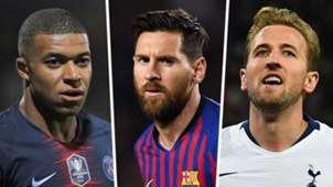 Kylian Mbappe, Lionel Messi, Harry Kane