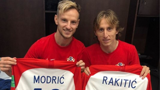 Ivan Rakitic Luka Modric Croatia 15072018