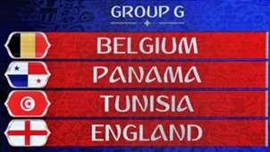 WM 2018 Spielplan Gruppe G England Belgien Panama Tunesien