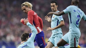 Griezmann Semedo Busquets Atletico Madrid Barcelona LaLiga
