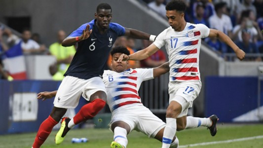 Paul Pogba Weston McKennie France USA Friendly 09062018