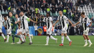 Juventus celebrating Young Boys