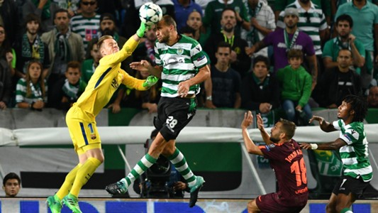Bas Dost Ter Stegen Sporting CP Barcelona UCL 27092017
